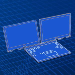 لپتاپی با دو نمایشگر