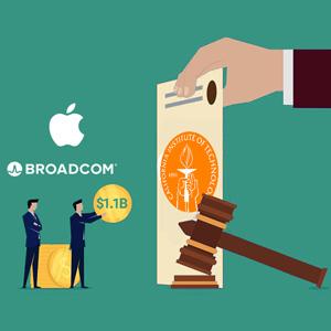 محکومیت ۱.۱ میلیارد دلاری اپل و برودکام به دلیل نقض پتنت