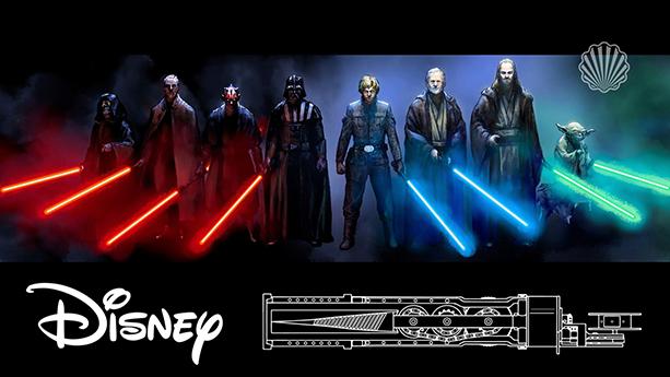 طراحی شمشیر لیزری جنگ ستارگان از سوی والت دیزنی