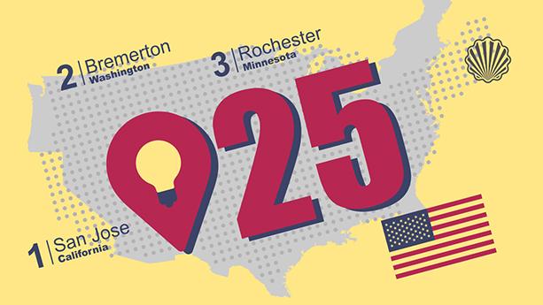 انتشار فهرست ۲۵ شهر نوآور آمریکا بر مبنای فعالیتهای ثبت اختراع