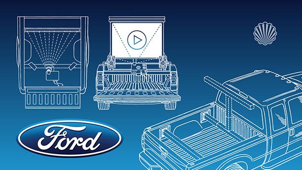 تبدیل کابین عقب کامیون به یک سالن نمایش اختصاصی