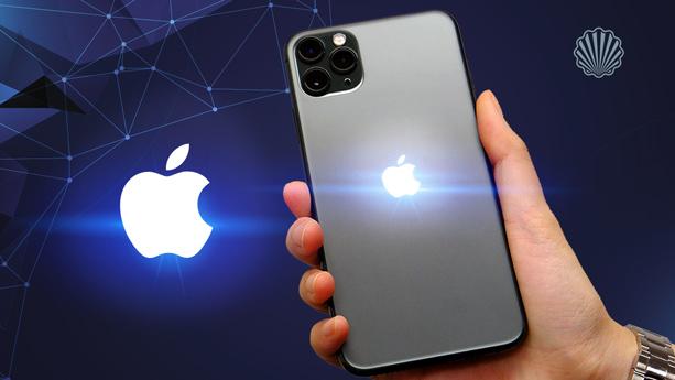 استفاده از لوگوی مشهور اپل بهعنوان چراغ هشدار آیفون