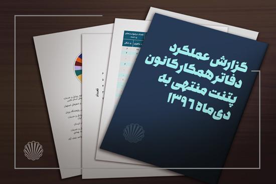 گزارش عملکرد دفاتر همکار کانون پتنت منتهی به دیماه ۱۳۹۶